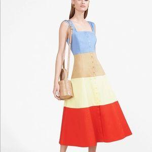 STAUD Ariel Dress multi color